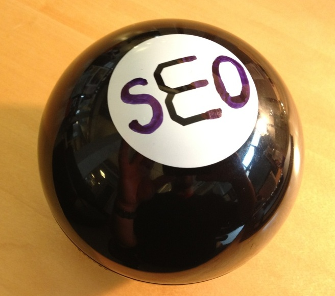 The Magic SEO Ball, which answers SEO questions